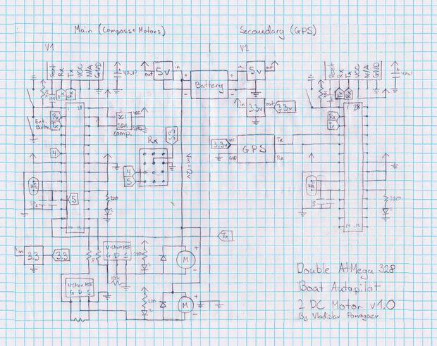 Autopilot - basierend auf dem Arduino Boot / Schritt 8: Löten die ...