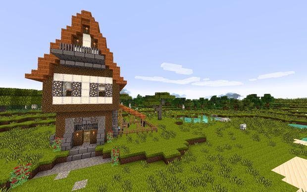 Wie Baut Man Eine Mittelalterliche Haus In Minecraft Genstrcom - Minecraft vanilla spielen