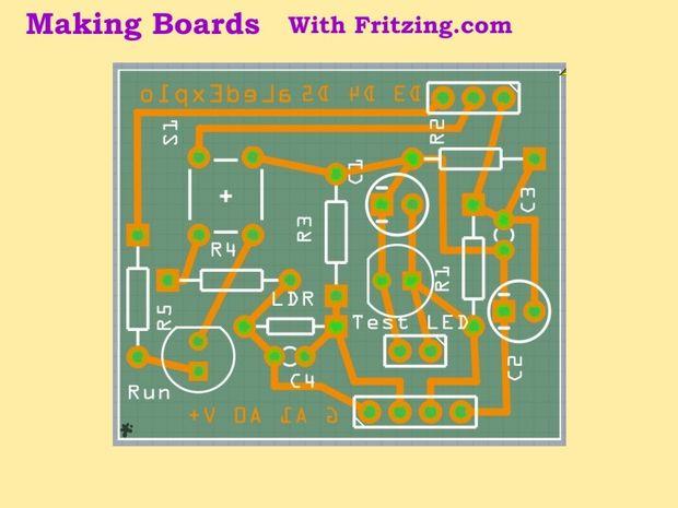 Machen Board(PCBs) / Schritt 5: Arbeiten mit Fritzing - genstr.com