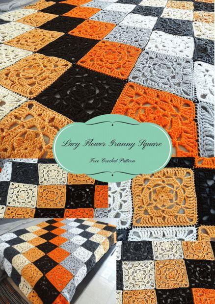 Lacy Flower Granny Square – kostenlose Häkelanleitung - genstr.com