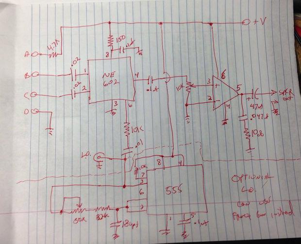 Ultraschall Entfernungsmesser Schaltplan : Ultraschall leck arc fledermausdetektor schritt 1