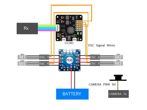 DIY-FPV Drohne Racing / Schritt 2: Die Elektronik Schaltplan und ...