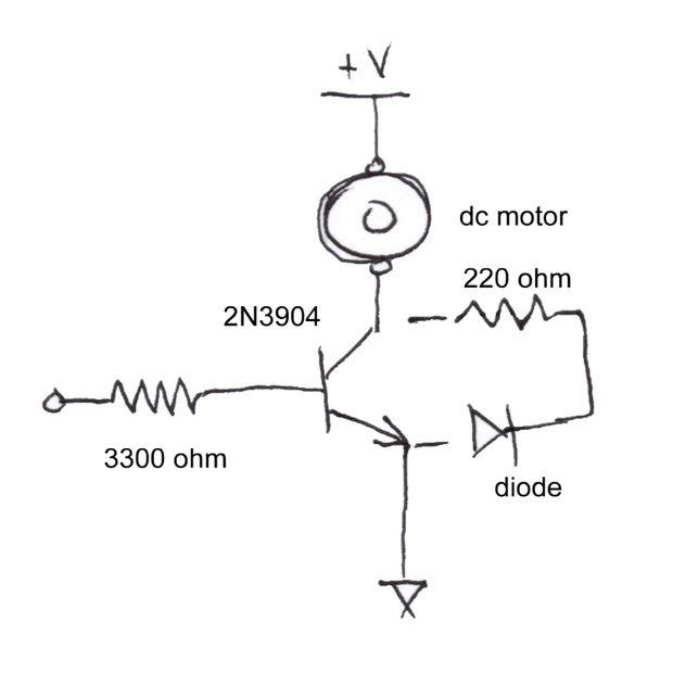 QuickStart - einen Transistor DC-motor-Controller - genstr.com