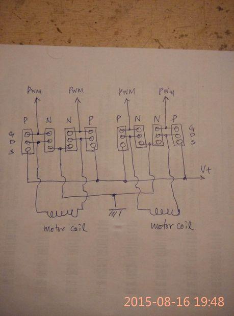 Bipolar Schrittmotor-Treiber / Schritt 1: Schaltplan - genstr.com