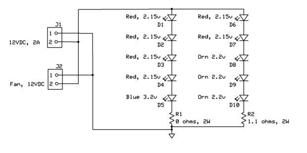 High-Brightness LED Grow-Light / Schritt 4: Schaltung Schaltplan ...