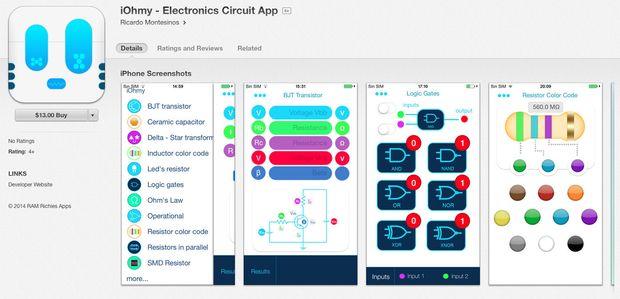 IOhmy - App für Elektronik Schaltungen - genstr.com