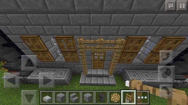 Minecraft Pe Mittelalterliche Haus Schritt 9 Eingangsbereich