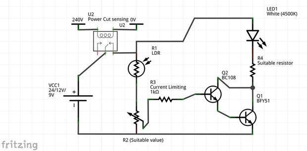 Notlicht Licht /Automatic / Schritt 2: Theorie und Schaltplan ...