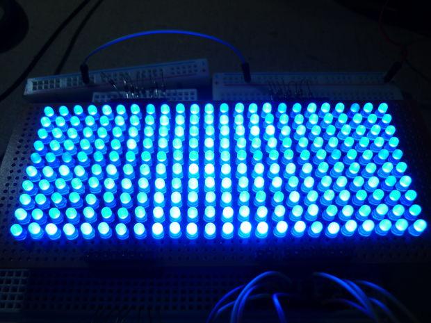 24 x 10-LED-Matrix (Arduino basierend) - genstr com
