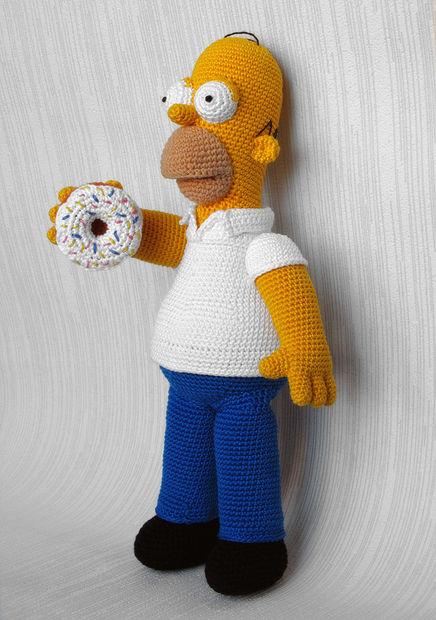 Homer Simpson Crochet Toy Genstrcom