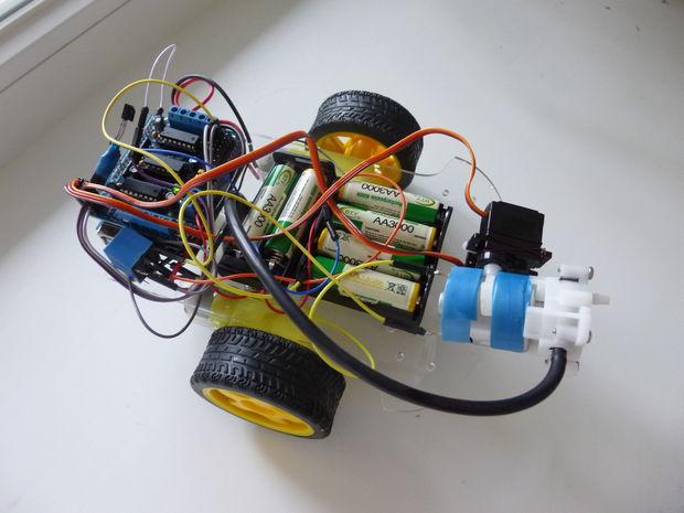 Wasserwerfer arduino roboter ir genstr