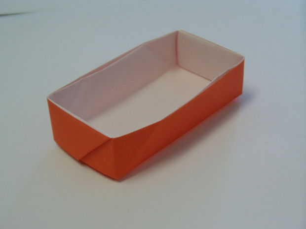 rechteckige origami schachtel. Black Bedroom Furniture Sets. Home Design Ideas