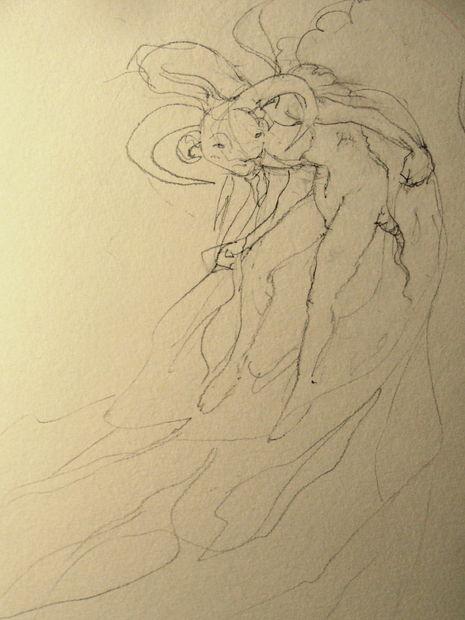 Zeichnen Sie Einen Halloween Dämon Schritt 2 Skizze Der Figur
