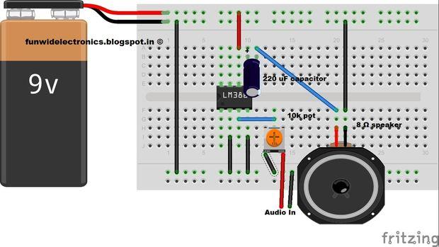 Einfache DIY Audio-Verstärker Lm386 / Schritt 1: Schaltplan - genstr.com