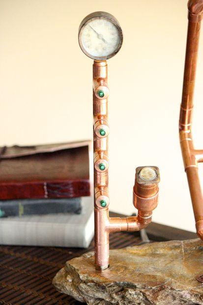 Steampunk Kupfer Lampe Mit Rock Basis Genstrcom