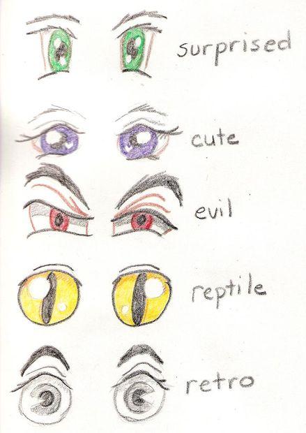 Manga Figuren Zeichnen Schritt 3 Manga Augen Genstr Com