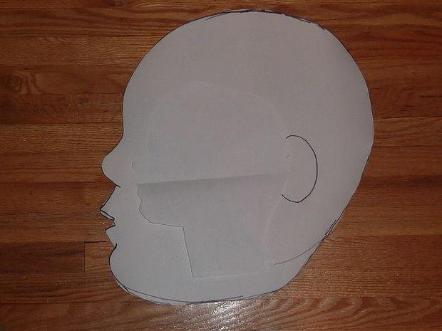 Maske machen (Voodoo Baby) / Schritt 2: Schnittmuster - genstr.com