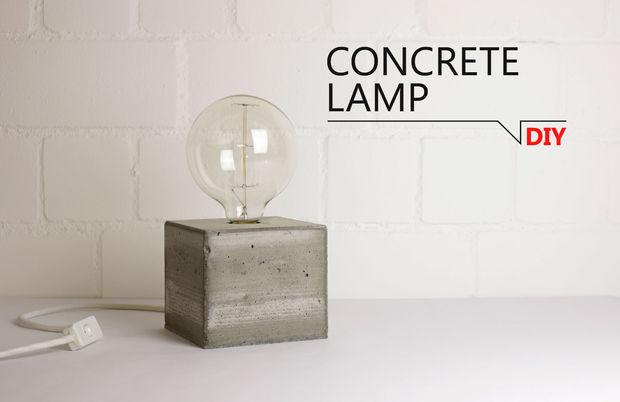 DIY - Beton Lampe - genstr.com