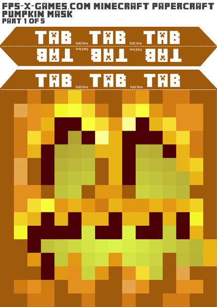 Minecraft Halloween Kurbis Maske Erstellen Genstr Com